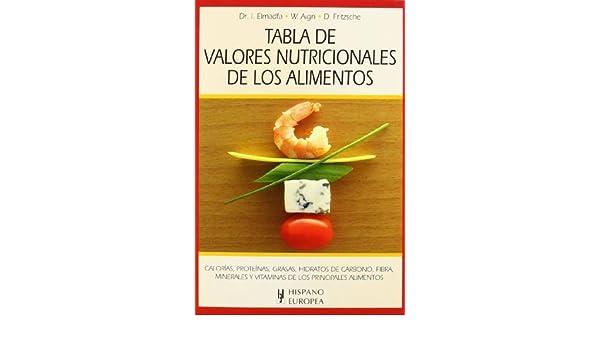 Tabla de valor nutricional de los alimentos / Table of nutritional value of Food (Spanish Edition) by ELMADFA (2012) Paperback: Amazon.com: Books