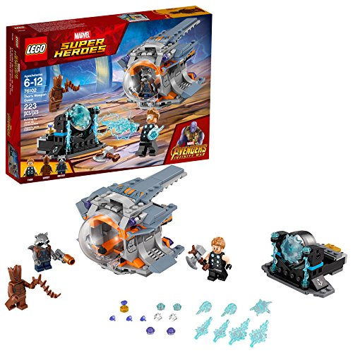 LEGO Marvel Super Heroes Avengers: Infinity War Thor's Weapon Quest 76102 Building Kit (223 Piece)]()