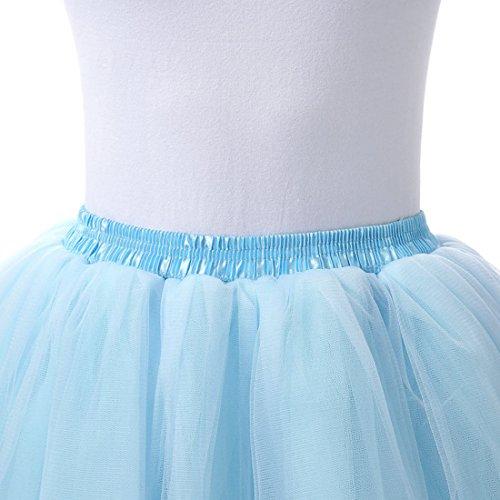 Tulle Tutu Ballet pour Bal Femme Uni Bleu clair Couleur Jupe Costume FydRise Layer 6 gZF68
