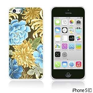 OnlineBestDigitalTM - Flower Pattern Hardback Case for Apple iPhone 5C - Gold Chrysanthemum