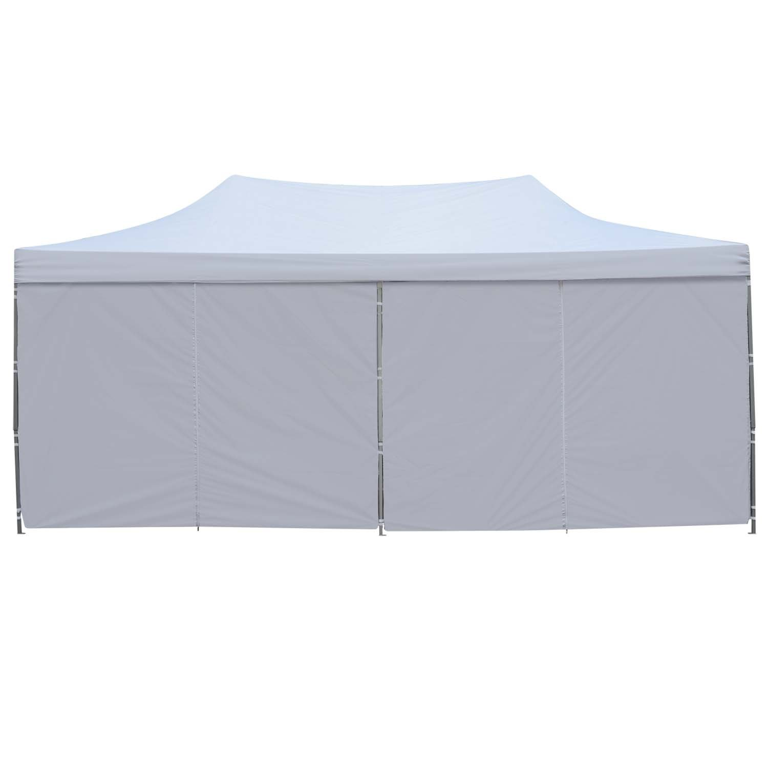 Outdoor Basic 10x20 Ft Pop up Canopy Party Wedding Gazebo Tent Shelter with Removable Side Walls White by Outdoor Basic (Image #4)