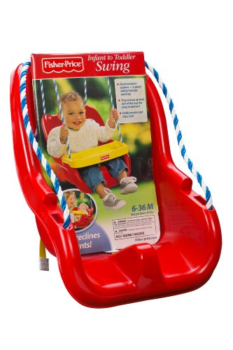 Amazon Fisher Price Infant To Toddler Swing In Red Toys Games