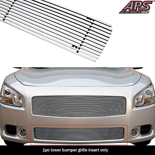 APS Compatible with 2009-2013 Nissan Maxima Aluminum Chrome Horizontal Billet Grille Insert