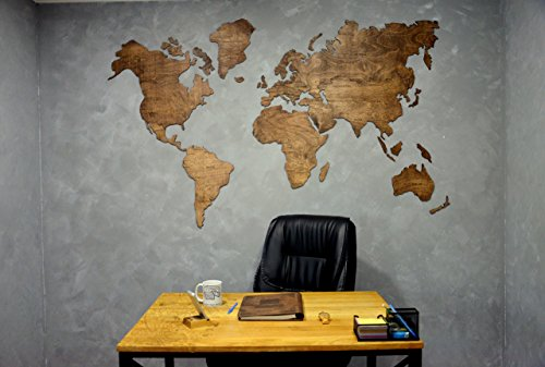 wooden world map large map of the world travel map wall world map rustic home decor office decor wall decor dorm living room interior design by enjoy the