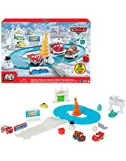 Disney and Pixar's Cars Minis Advent Calendar Playset, One a Day Storytelling Racecar Accessories & Surprises, for Kids Age 3 Years and Older