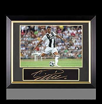 6b88cae8c Cristiano Ronaldo Autographed Signed Plaque And Juventus 16X12 Photo Frame   Bianconeri Star