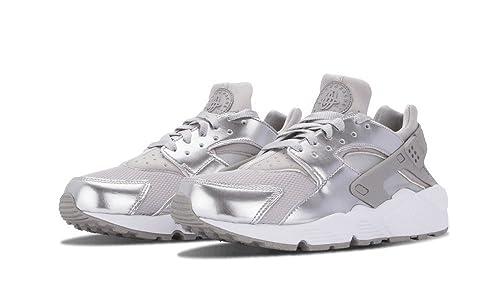 Nike Air Huarache metálico plata blanco Trainer, color Plateado, talla 37,5 EU