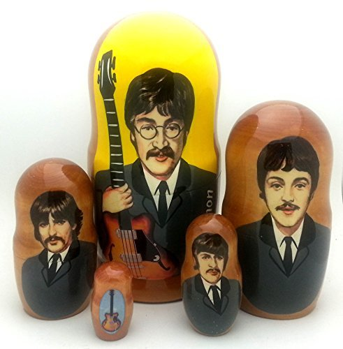 Beatles Russian Nesting dolls 5 piece DOLL Set 7'' Tall by BuyRussianGifts (Image #3)