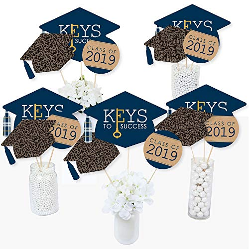 Grad Keys to Success - 2019 Graduation Party Centerpiece Sticks - Table Toppers - Set of 15 ()