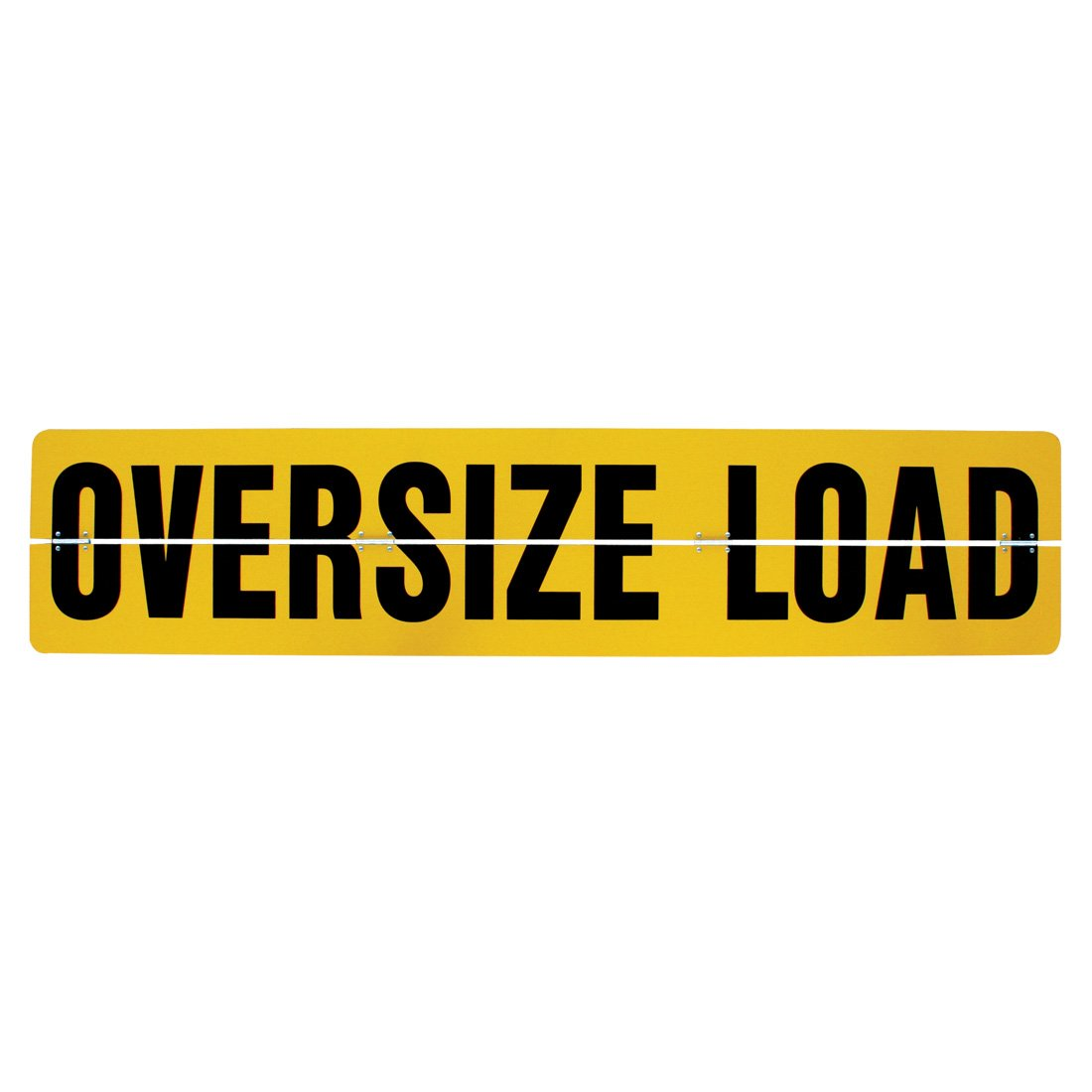 Vulcan Brands Hinged Aluminum Oversize Load Sign (18'' x 84'' - for Trucks and Trailers)