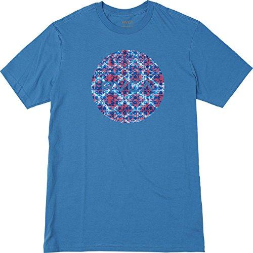 RVCA Men's Motors Fill Short Sleeve T-Shirt, Cobalt, (Fill Short Sleeve T-shirt)