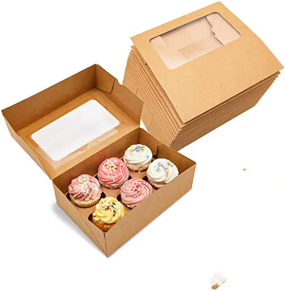 WHITE 6cm INSERT DIVIDER 5x 12 HOLE CORRUGATED CUPCAKE BROWNIE CAKE DONUT BOX