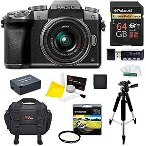 Panasonic DMC-G7KS Digital Single Lens Mirrorless Camera 14-42 mm Lens Kit, 4K + Starter Bundle + 64 GB High Speed 10…
