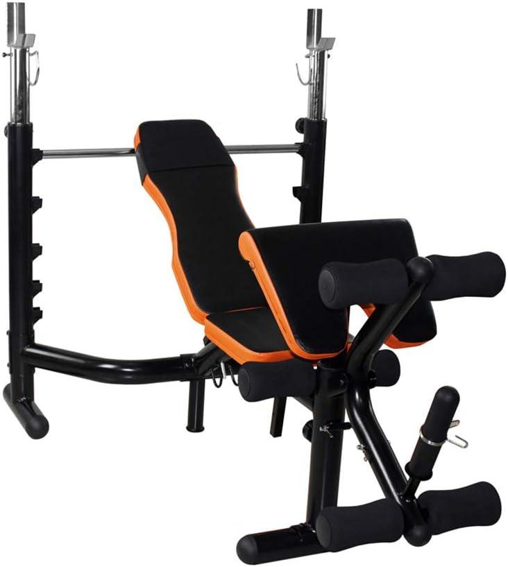 トレーニングベンチ 折りたたみ重量テーブル多機能ベンチプレスの重量ベンチバーベルラック商業スクワットラックセットバーベルトレーニング 仰臥位ボード (Color : 黒, Size : 170*135*110cm) 黒 170*135*110cm