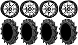"Bundle - 9 Items: STI HD10 14"" Wheels Machined 28"" MotoHavok Tires [4x137 Bolt Pattern 12mmx1.5 Lug Kit]"