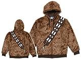 Star Wars Men's I Am Chewie Hooded Costume Fleece, Brown, Large