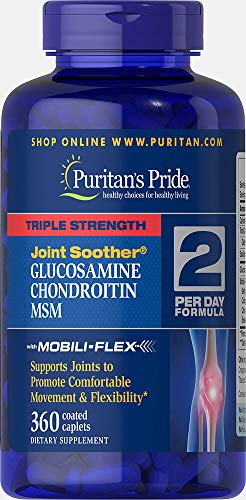 Puritans Pride Triple Strength Glucosamine, Chondroitin and Msm Joint Soother, 360 ()