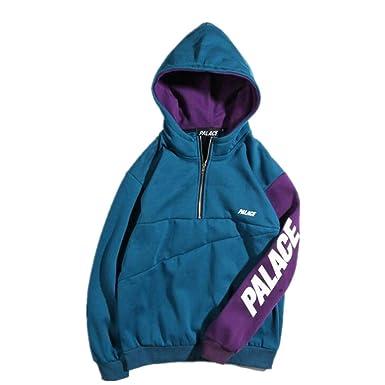 f58e88ca3e89 Mulynn Palace Fashion Colorblock Zipper Hoodie Sweater for Men Women at  Amazon Men s Clothing store