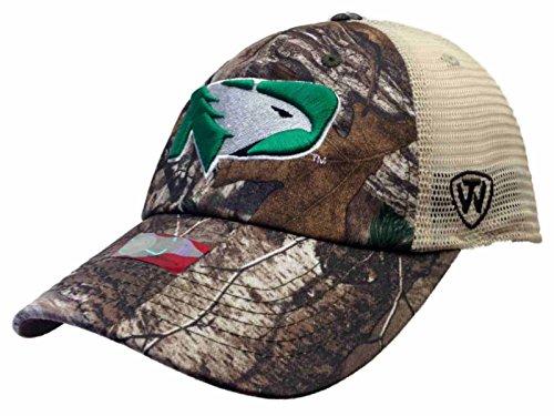 (Top of the World North Dakota Fighting Hawks Camo New Logo Vintage Mesh Adjustable Snap Hat Cap)