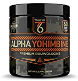 Team Six Supplements Alpha Yohimbine – Proven Yohimbe Bark Fat Burner, Weight Loss Pills That Work Fast – 3rd Party Tested for Purity and Potency, 60 veggie capsules For Sale