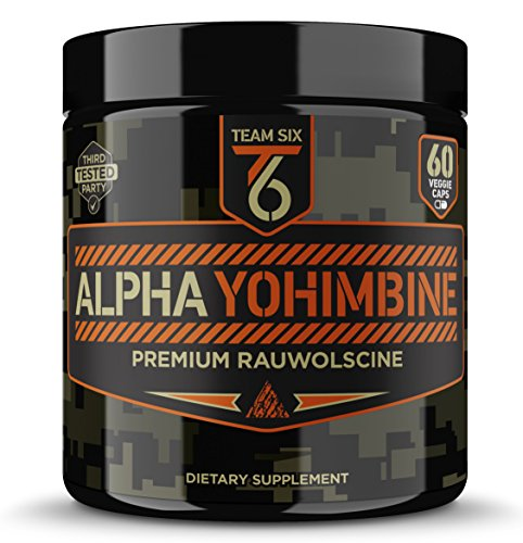 Team Six Supplements Alpha Yohimbine – Proven Yohimbe Bark