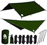 🔵 Chill Gorilla, a US-Based company. 100% Customer Satisfaction Rating BEAT THE RAIN! Do you need sound, foul-weather protection that is fast and easy to setup? Chill Gorilla's Rain Fly sets up fast, packs light, and keeps you dry. NEW AND IMPROVED W...
