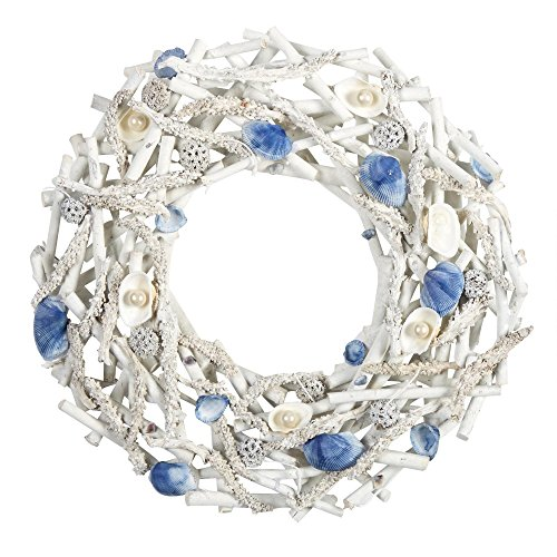 Blue Seashells Wreath real seashells