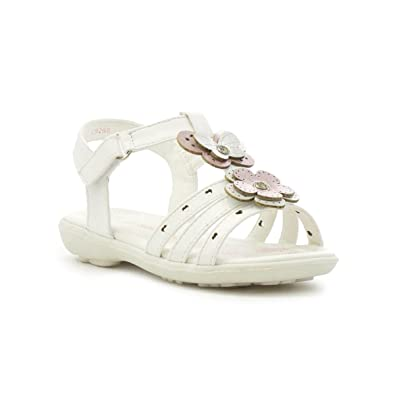 e451ad34060e4 Walkright Girls White Strappy Flat Sandal  Amazon.co.uk  Shoes   Bags