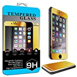 iPhone 6 Plus Colorful Screen Protector Tempered Glass, BACK & FRONT Nue Designs Cases TM Fully Body Colored Tempered Glass Body Sticker 2.5D Round Edge 9H Hardness Full Body Premium Tempered Glass Screen Protector For iPhone 6 Plus, 5.5 inch (GOLD)