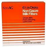 KenAG 6-1/2'' disc, non-gauze milk filter, 100 discs per box (pack of 2)