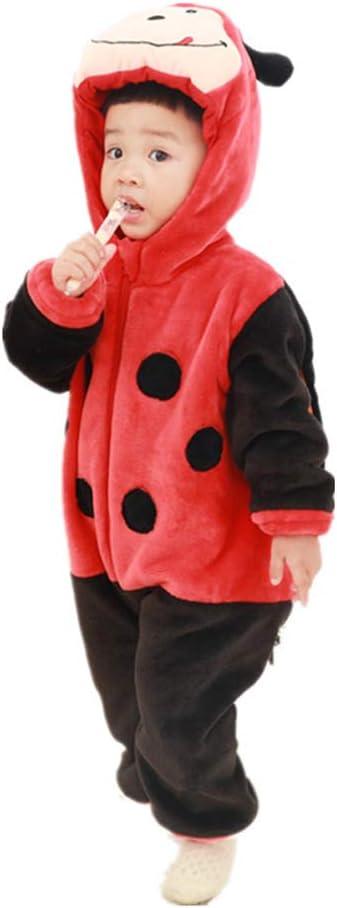 JJAIR Traje del bebé, Mariquita Cosplay Animal Pijamas de Franela ...
