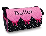 Cheap Bows 'n' Ballet Embroidered Small Duffel Bag with Quilted Top DansBagz by Danshuz