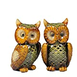 Better-way Owl Animal Ceramic Aromatherapy Oil Burner Tealight Holder Wax Warmer Home Decorative Accents (2 Pack)