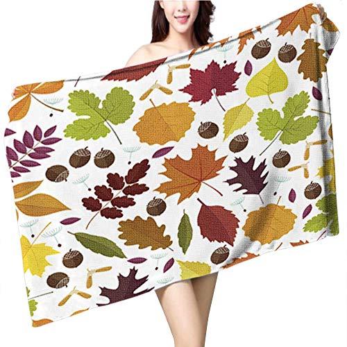 fengruiyanjing Custom Baby Bath Towel,Thanksgiving Day Pattern Wallpaper,Print Wrap Towels, Size:55.1 x 27.6 INCH