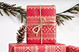 Winter Sweater Warm Red / Wrapping Paper / 3 Sheets
