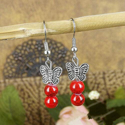 New Chic Fashion Womens Jewelry Silver BEADS Type Ear Stud Earrings Gift E02