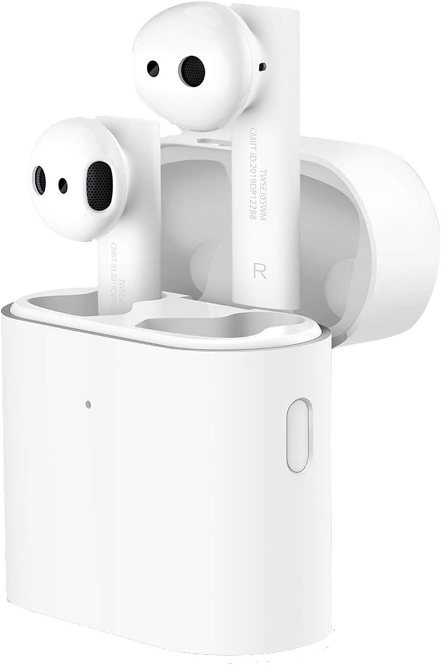 Xiaomi Mi True Wireless Earphones 2 Auriculares Bluetooth Sonido Estéreo Auricular sin Cables con Caja de Carga, conexión Bluetooth 5.0, Control Doble Tap, Blanco