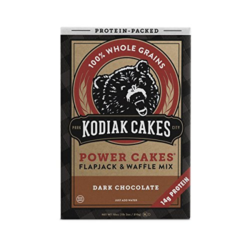 Kodiak Cakes Protein Pancake Power Cakes, Flapjack and Waffle Baking Mix, Dark Chocolate, 18 Ounce ()