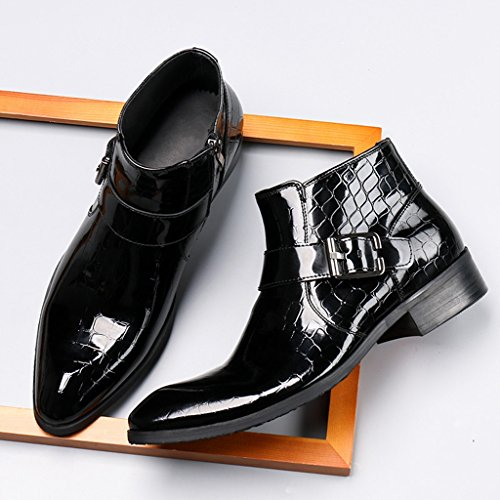 b467290577de Herren Lederschuhe Herren Lederstiefel High-Top-Schuhe kurze Stiefel  britischen Stil Tide wies Martin ...