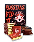"""Funny Russians Did It food gift ☭ """"RUSSIANS DID IT"""" ☭ a nice joke chocolate set!"""