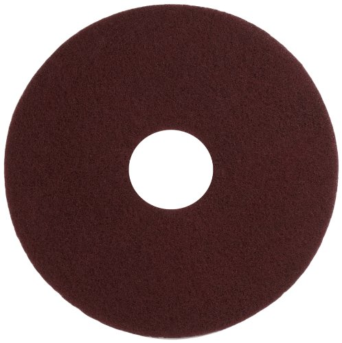 Maroon Wood - Glit 11514 TN Polyester Blend Maroon Wood Surfacing Pad, Synthetic Blend Resin, Aluminum Oxide Grit, 14