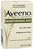 Aveeno Moisturizing Bar with Natural Colloidal Oatmeal for Dry Skin, Fragrance Free, 3oz (12 pack)
