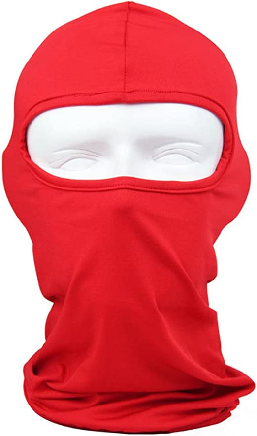 Red Full Face Mask One Size