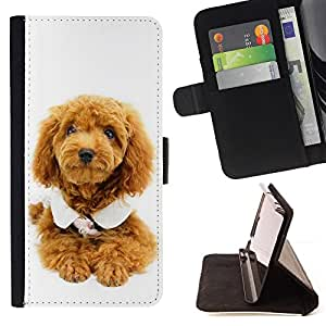 Jordan Colourful Shop - Cute Puppy Dog Poodle For Apple Iphone 6 PLUS 5.5 - Leather Case Absorci???¡¯???€????€?????????&At