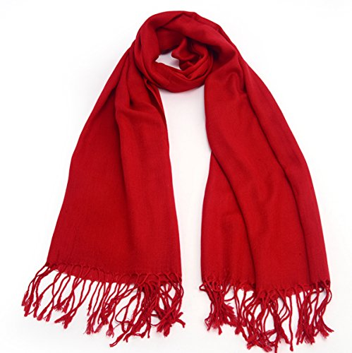 REINDEER Thick Solid Color Pashmina Shawl Scarf US Seller