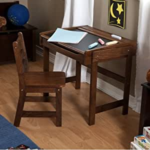 school desk and chair set combo child study student kids antique organizer storage. Black Bedroom Furniture Sets. Home Design Ideas