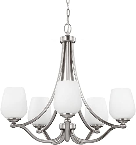 Sea Gull Lighting F2960 5SN Vintner Five Light Chandelier, Satin Nickel