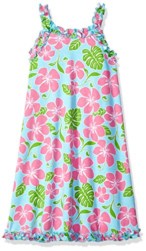 Saras Prints Girls Ruffle Tank Nightgown