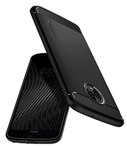 Spigen Rugged Armor Moto G6 Case Flexible Durable Shock Absorption Carbon Fiber Design Motorola Moto G6 (2018) - Black by Spigen (Image #8)