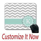 xtrac mouse pad - Create Your Own Padded Mouse Pad Letter K Mint Monogram Grey Chevron Mouse Pad Customize Xtrac Mouse Pad Online Printing Cool Mouse Pads